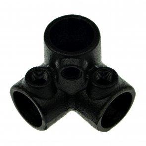 drieweg-kniestuk-90-zwart